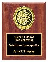 スポンサーPlaque Awards 7x 9木製スポーツチームトロフィーLeague Trophies Free Engraving