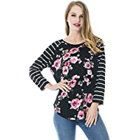 Smallshow Nursing Tops 9/10 Sleeve Women's Breastfeeding Shirt