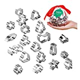 Beyond 280 Daily Use and Christmas Cookie Biscuit Cutters Set, Cute Mini Stainless Steel Shapes for Baking and Party (4.7in Ball_20pcs-mini)