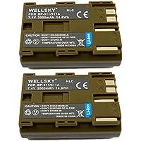 [WELLSKY] [ 2個セット ] Canon キヤノン BP-511 / BP-512 / BP-511A / BP-514 互換バッテリー [ 純正品と同じよう使用可能 純正充電器で充電可能 残量表示可能 ] イオス EOS 5D / EOS 50D / EOS 10D / EOS 20D / EOS 20Da / EOS D30 / EOS 30D / EOS 40D / EOS-D60