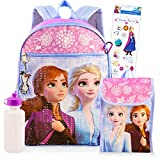 Disney Frozen Backpack Set for Girls Kids ~ Deluxe 16 Inch Frozen Backpack with Lunch Bag and Stickers (Frozen School Supplies)