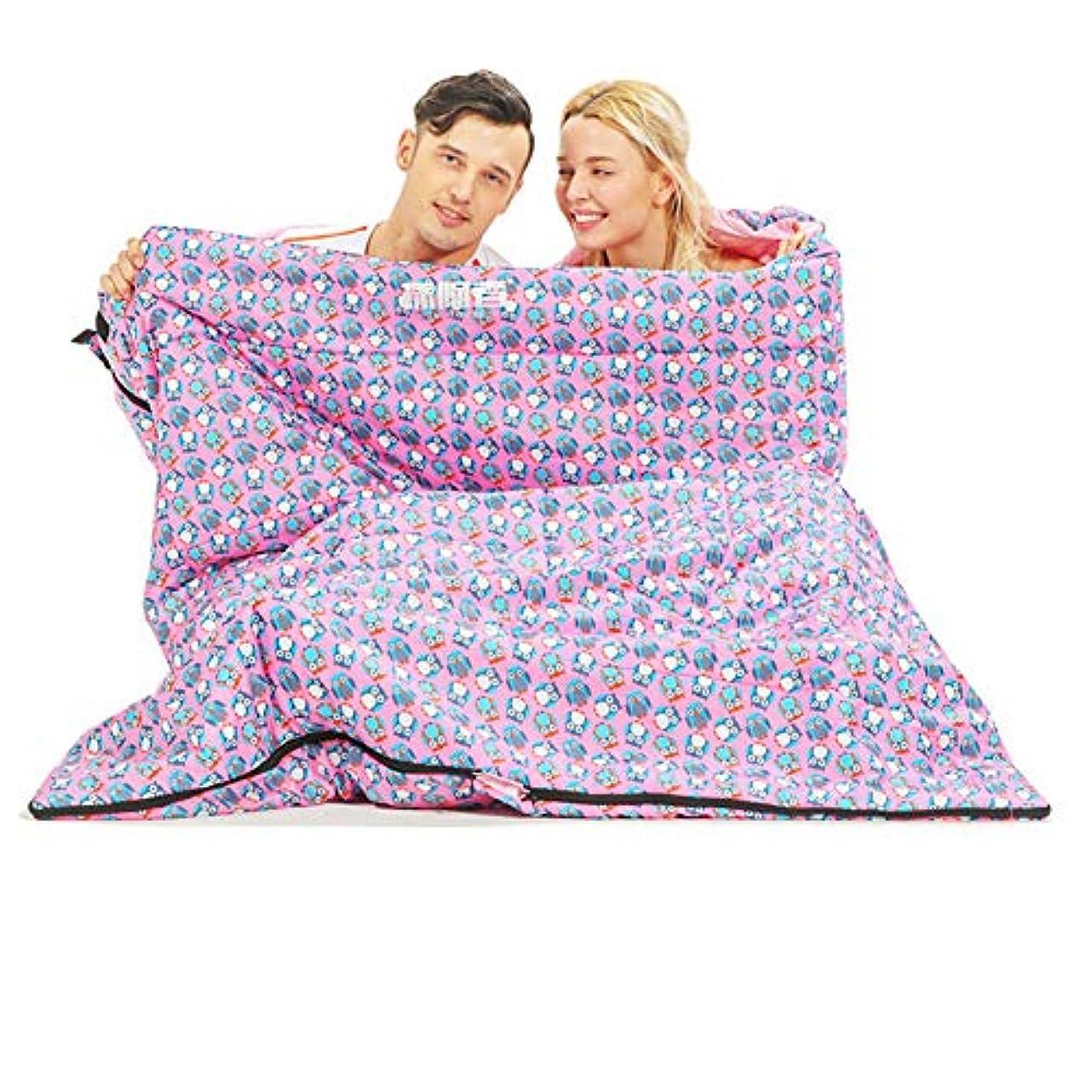性的関税排他的Durable,breathableダブル寝袋、暖かい厚い睡眠バッグ寒い天気2人防水スリーピングバッグ大人または十代の若者たちキャンプハイキングスリーピングパッド,pink,220*140cm