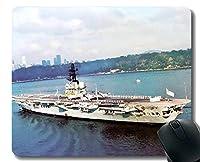 ステッチエッジ付きマウスパッド、軍用HMASメルボルン(R21)軍艦滑り止めラバーゲームマウスパッド