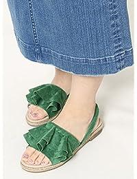 (コーエン) COEN 靴 シューズ サンダル フリルバックストラップエスパサンダル(ベージュ ⇒ WEB限定カラー) 76826038030 レディース