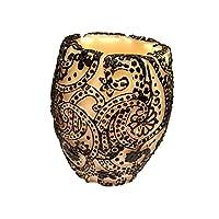 Paisley Vase (Ivory×Black/グリーンティー)