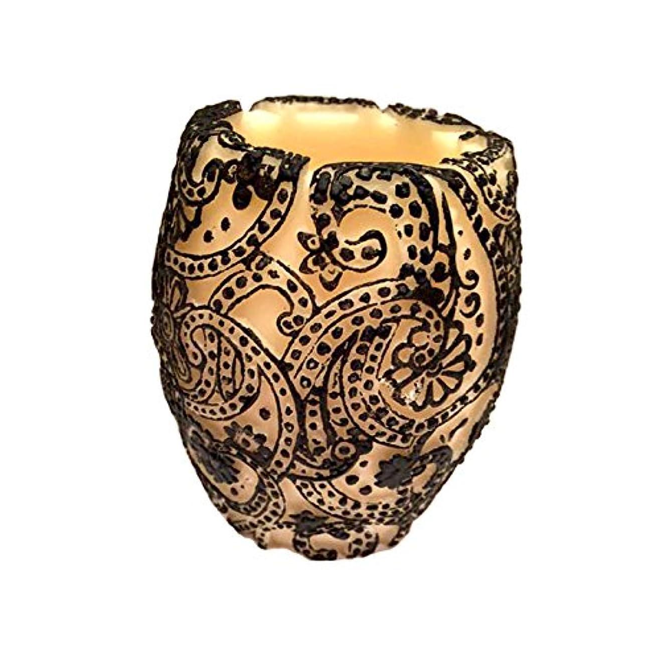ピンチ祖先浪費Paisley Vase (Ivory×Black/グリーンティー)