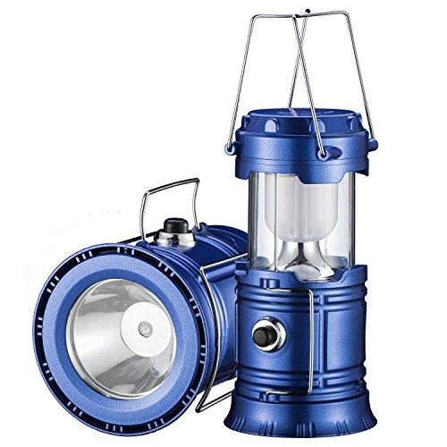 YIEASY アウトドアランタン キャンプランタン 電池式LED折り畳式ランタン 懐中電灯 スライド式 エクスプローラー 登山 釣り ハイキング 災害 [ブルー]