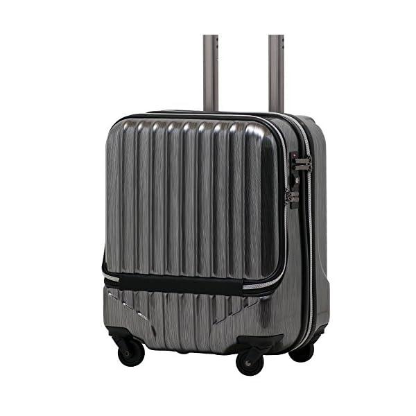 スーツケース 機内持込 軽量 小型 フロントオ...の紹介画像2