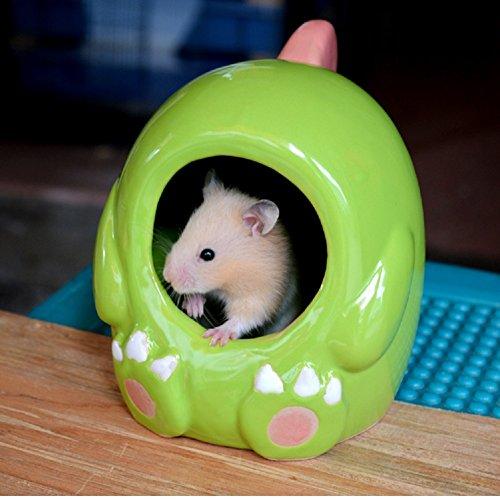 Cathyのハウス 小動物のハウス 隠れ家 陶器 装飾 超可愛い ハムスター・ネズミ・チンチラ おへや 遊びところ (恐竜さん, L)