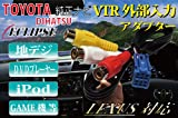 ◆2011年モデル対応!! VTRアダプター (RCA メス端子:0.5m) トヨタ/ダイハツ デーラーOPナビ NHZA-W61G NHZN-W61G NHZN-X61G NSCT-W61 NSZT-W61G / NSCT-W61D(N151) など外部入力に