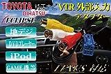 《VI-02》◆トヨタ ダイハツ レクサス イクリプス ナビゲーション用!! VTR アダプター ビデオ 端子 ハーネス (RCA メス端子:1.5m) 外部入力に ビデオハーネス ビデオ コネクター VTR コネクタ ビデオ ケーブル VTR ケーブル