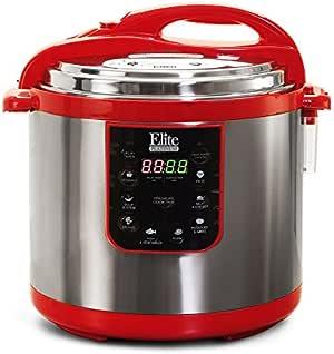 エリート プラチナ EPC 1013R マキシ-Matic 10 クォート 電気 圧力 鍋 、 赤 (ステンレス 製)
