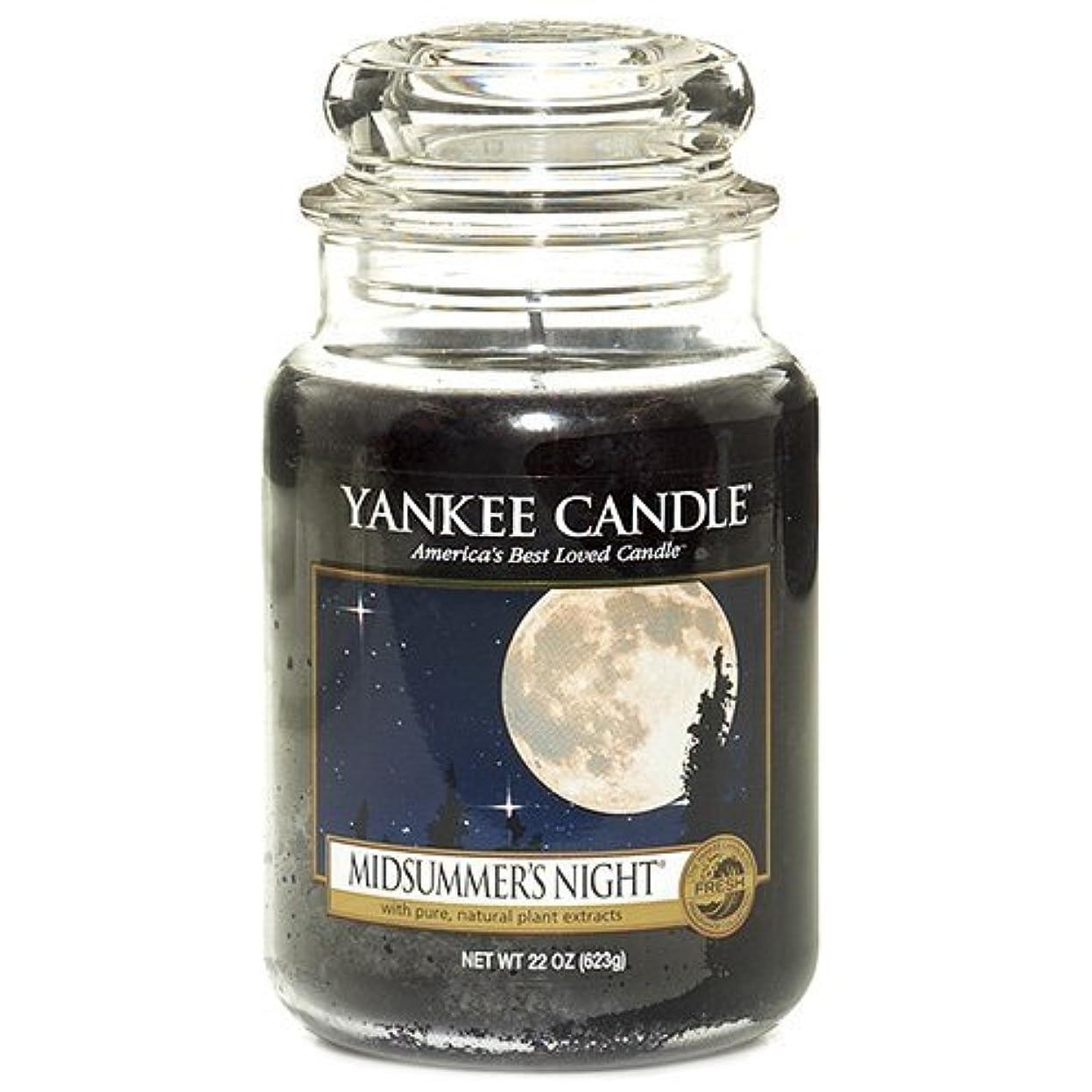 スクリュー崇拝する暗唱するYankee Candle Large Midsummers Night Jar Candle 115174E by Yankee Candle [並行輸入品]