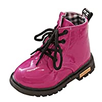 Tovadoo 子供靴 ブーツ 紐靴 レインブーツ 男女共用 秋冬 多色 防水 イギリス風 滑り止め おしゃれ ファッション 保育園 小学校 旅行