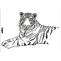 umr-design w-052 Tiger Wandstencil A4 W-052 A4