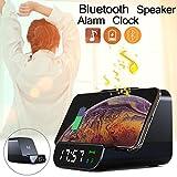 Iosなどのスマートデバイス用のBluetooth目覚まし時計ワイヤレス充電器内蔵スピーカー