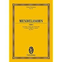 Mendelssohn: Piano Trio 2 Op. 66 C Min: op. 66/2