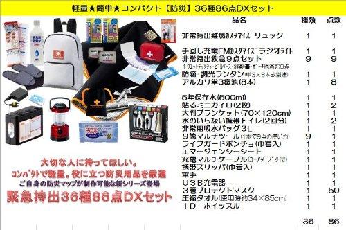 簡単★軽量★コンパクト 【防災】36種86点DXセット iPhone/iPod/スマートフォン対応!