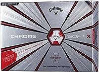 Callaway(キャロウェイ) ゴルフボール CHROME SOFT X 2018年モデル 1ダース( 12個入り) TRUVIS RED 6424055122044