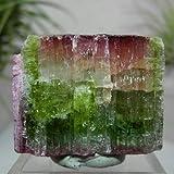 ウォーターメロントルマリン(バイカラートルマリン)柱状結晶原石(ナチュラル)125