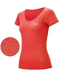 S (COPK)コーラルピンク (モンベル) MONT-BELL レディース ジオライン L.W. Uネック Tシャツ 1107569