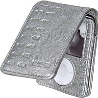 【国内正規品】 Griffin Elan Convertible for 3G Nano (Silver) 第三世代iPod nano用レザーフリップトップケース(銀) - 取り外し可能なカバーと、ベルトクリップ付 ELAN/NANO3G/SLV