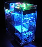 Nhowe DIYパーソナライズ標準ガラス透明アクリルATXコンピュータケース