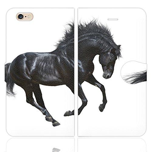 iPhone6S iPhone6 手帳型 ケース カバー REAL HORSEホワイト カッコイイ ...