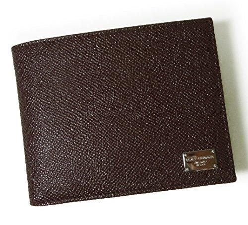(ドルチェ&ガッバーナ)DOLCE&GABBANA 財布 メンズ ドーフィン 型押し レザー 二つ折 (ボルドー) DG-1542 [並行輸入品]