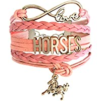 Infinity Horse Bracelet for Girls - Best Jewellery Gifts for Horse Lovers – Birthday Gifts and Pony Club Prizes - Beautifully Packaged Blue Bracelet is an Affordable Gift for Girls