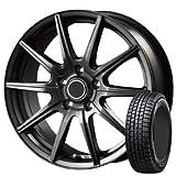 15インチ 1本セット スタッドレス・ホイール ダンロップ(Dunlop) ウィンターマックス01 (WINTER MAXX01) 195/65R15 91Q + インターミラノ クレールGS10 メタリックダークグレー