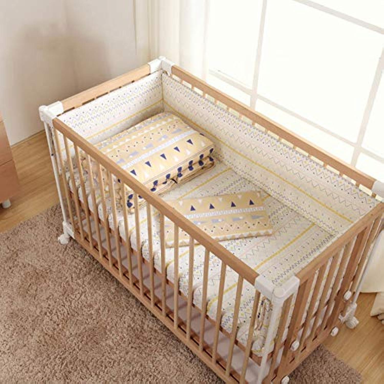 赤ちゃん ベッドガード セット 綿 子 寝具 洗える パッド ベッドレール 反衝突-B