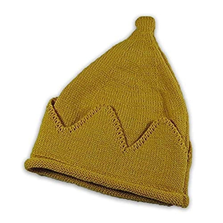 幼児幼児秋冬ベビーハットニットウール帽子ユニセックスベビー少年少女暖かい帽子赤ちゃんベリーズ6色 (色 : 黄)