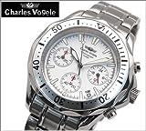 [シャルルホーゲル]Charles Vogele メンズ腕時計 ホワイト文字盤 ステンベルト クォーツ【CV-7995-2】 [並行輸入品]