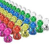 Aitsite 超強力マグネットピン カラーマグネットピン オフィス用品 学校用品 地図やホワイトボード 冷蔵庫に最適 7色 60個入