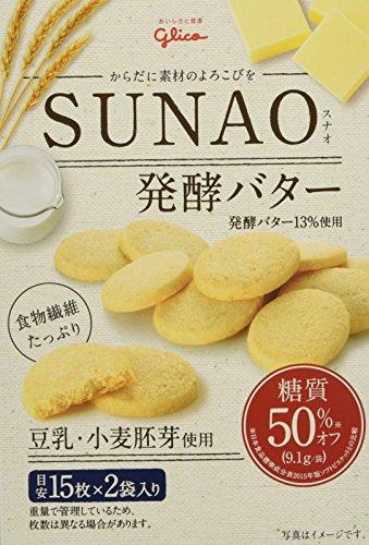 江崎グリコ [糖質50%オフ※]SUNAO 発酵バター 62g×5個