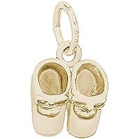 レンブラントチャーム14Kイエローゴールド靴のチャーム14Kイエローゴールドロープチェーンネックレス