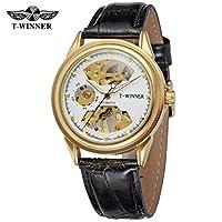 フェノコ美しい機械時計メンズ両面中空マニュアル機械時計機械時計