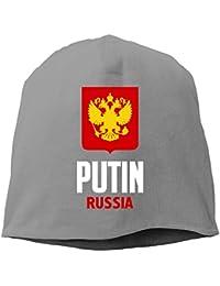 【Dera Princess】メンズ レディース ニット帽 Vladimir Putin - Russiaロゴ コットン ニットキャップ 帽子 オールシーズン 被れる