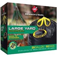 Member 's Mark power-guard Yardバッグ–39Gal–90ct。(4パック)