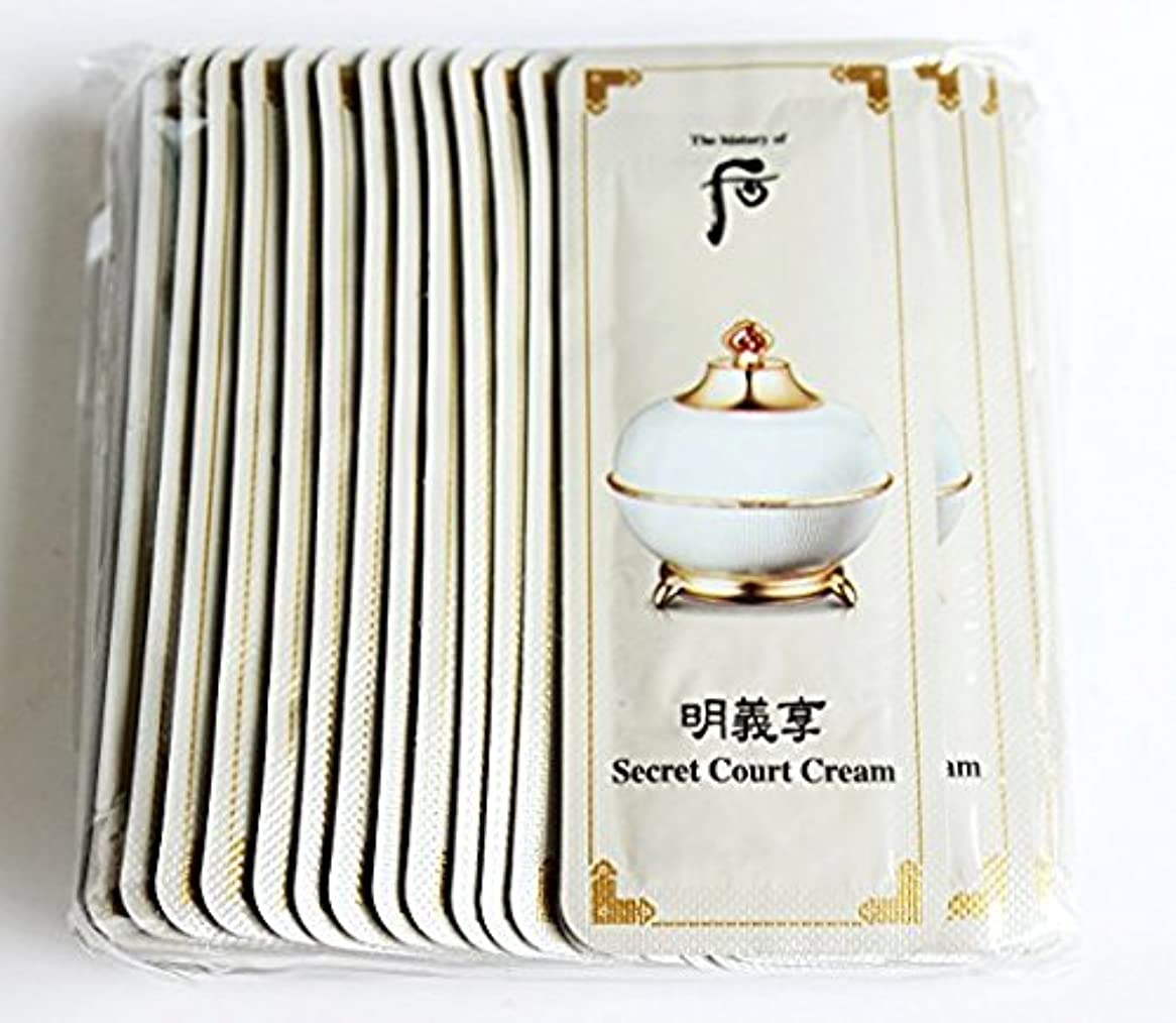 シェーバー橋ワーディアンケースThe History of Whoo Myeonguihyanng Secret Court Cream [Sample 1ml × 30ea]/ザ ヒストリー オブ フー(后) 明義享 シークレット コート クリーム...