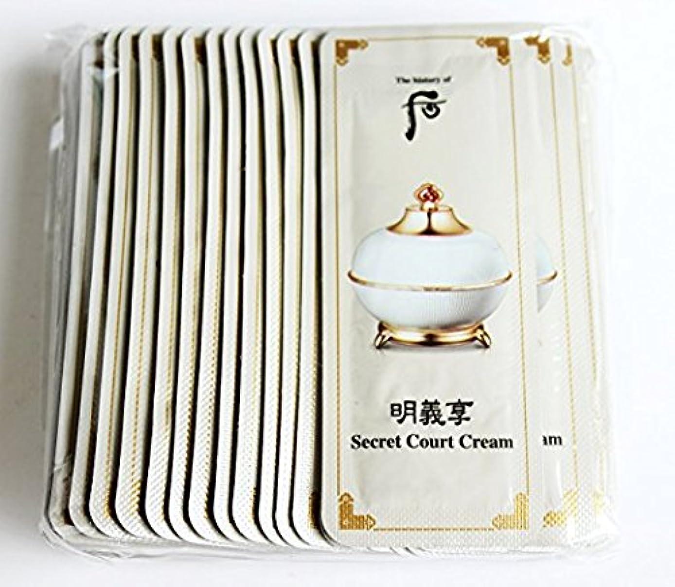 タイムリーなむき出し教科書The History of Whoo Myeonguihyanng Secret Court Cream [Sample 1ml × 30ea]/ザ ヒストリー オブ フー(后) 明義享 シークレット コート クリーム [サンプル 1ml × 30枚]