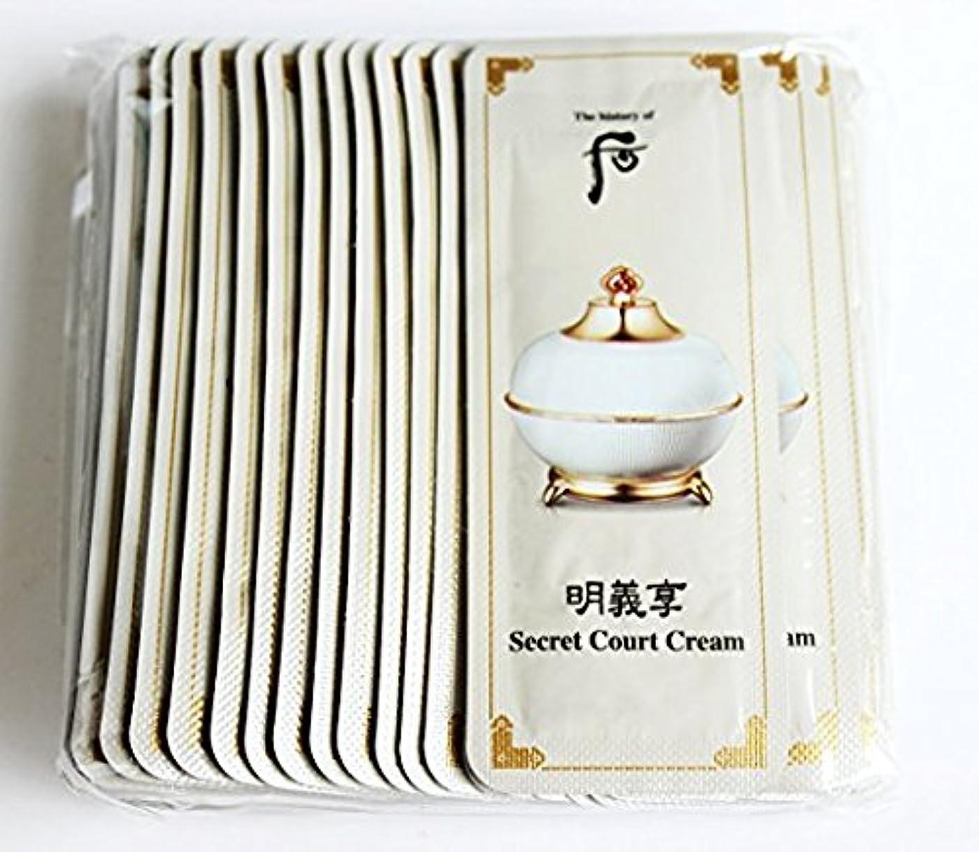 秀でる品揃え原始的なThe History of Whoo Myeonguihyanng Secret Court Cream [Sample 1ml × 30ea]/ザ ヒストリー オブ フー(后) 明義享 シークレット コート クリーム...