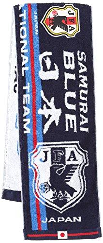 (Jリーグエンタープライズ)J.LEAGUE ENTERPRISE サッカー 日本代表 観戦グッズ タオルマフラー エンブレム 11-54242 ND ブルー F