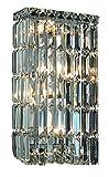 エレガントな照明2032W8C / RCロイヤルカットクリアクリスタルMaxim 4-lightクリスタル壁取り付け用燭台、クローム仕上げでクリアクリスタル付き
