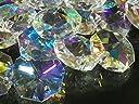 レインボー 八角 クリスタル ガラス ビーズ 14mm 20mm サンキャッチャー 材料 パーツ シャンデリア インテリア (20mm35個セット)