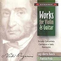 パガニーニ:協奏的ソナタ/カンタービレとワルツ/「バルカバ」による60の変奏曲(ビアンキ/プレダ)