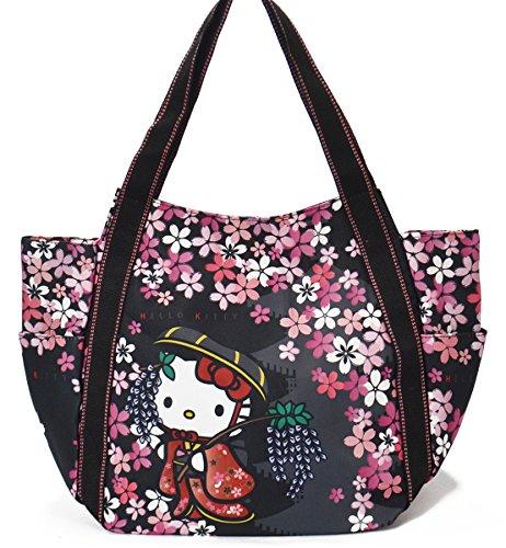 【B8-2】 Hello Kitty ハローキティ 限定 和柄 マザーズバッグ トートバッグ マザーズトートバッグ ■KITTY-...