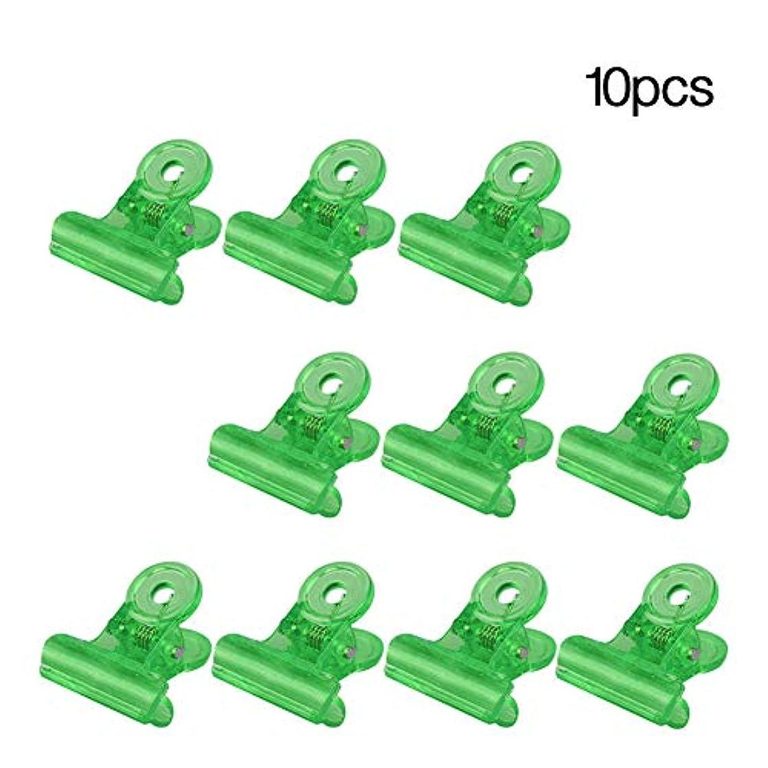 偽ビーチバーチャルslQinjiansavネイルアート&ツールクランプ10Pcsネイルヒントクリップ建物ゲルフィンガーネイルエクステンションクランプマニキュアツール - グリーン