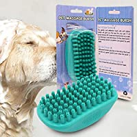 Petgrow 猫ブラシ 犬ブラシ バス シャワー用ブラシ 犬 猫用 抜け毛取りブラシ ペットブラシ マッサージブラシ お手入れ用品 短毛種に適用 マウス型